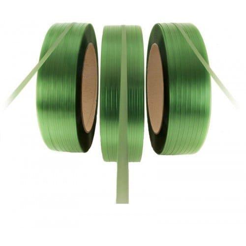 PET omsnoeringsband groen - 19mm x 1.000m x 1,00mm