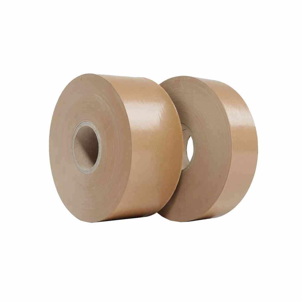 Papieren tape gegomd - 70mm x 200m - 60g/m3