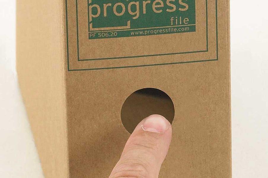 Kartonnen archiefdoos A4 - bruin (20 st)