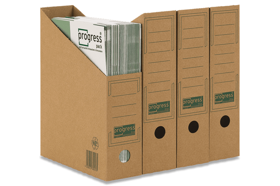 Kartonnen tijdschriftcassette A4 - bruin (20 st)