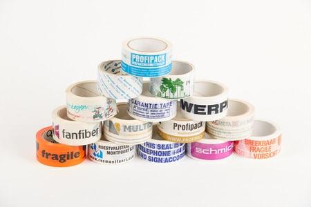 Bedrukte PVC tape - 50mm x 66m (3 kleuren)