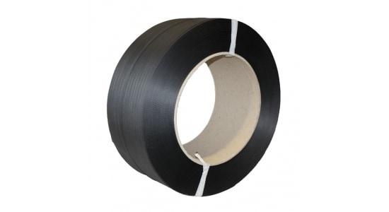 PP omsnoeringsband zwart - 12mm x 2.000m x 0,73mm