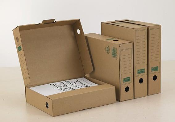 Kartonnen archiefdoos A4 -bruin met scharnierdeksel (20 st)