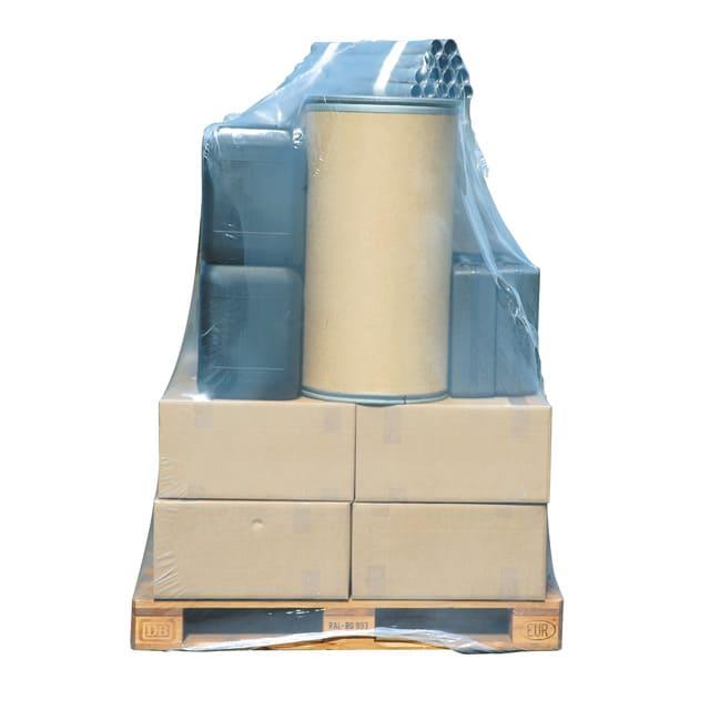 Plastic krimphoezen - 1250 x 525/525 x 1550mm x 100my
