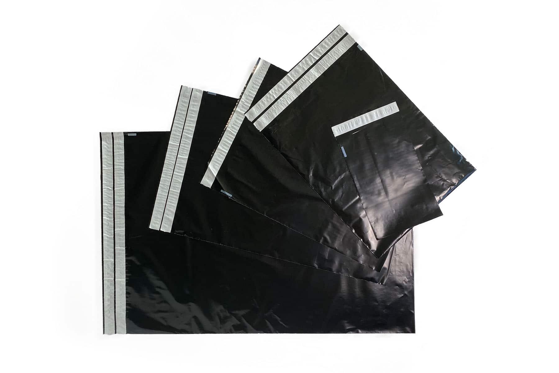 Coex verzendzakken zwart retour - 500 x 700mm (100 st)