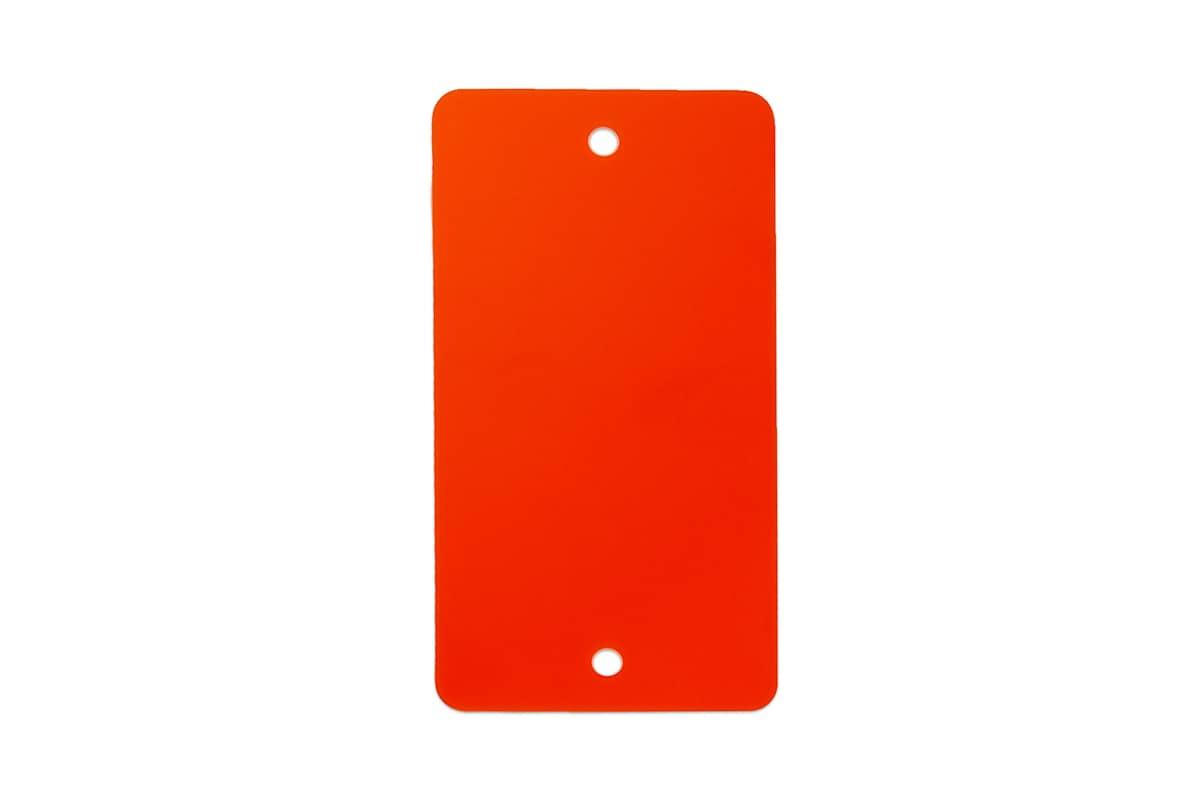 PVC kunststof labels rood - 55 x 110mm (100 st)