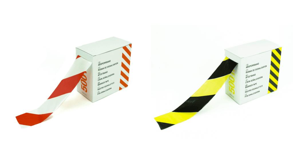Afzetlint geel/zwart - 75mm x 500m