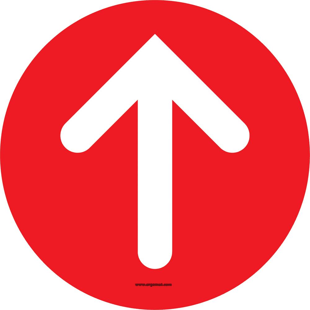 Sticker pijl rood - 15cm (4 stuks)