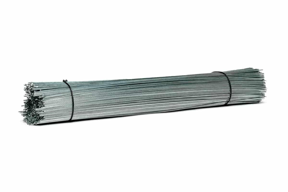 Metalen labeldraadjes verzinkt - 250mm x 1mm (1.000 st)