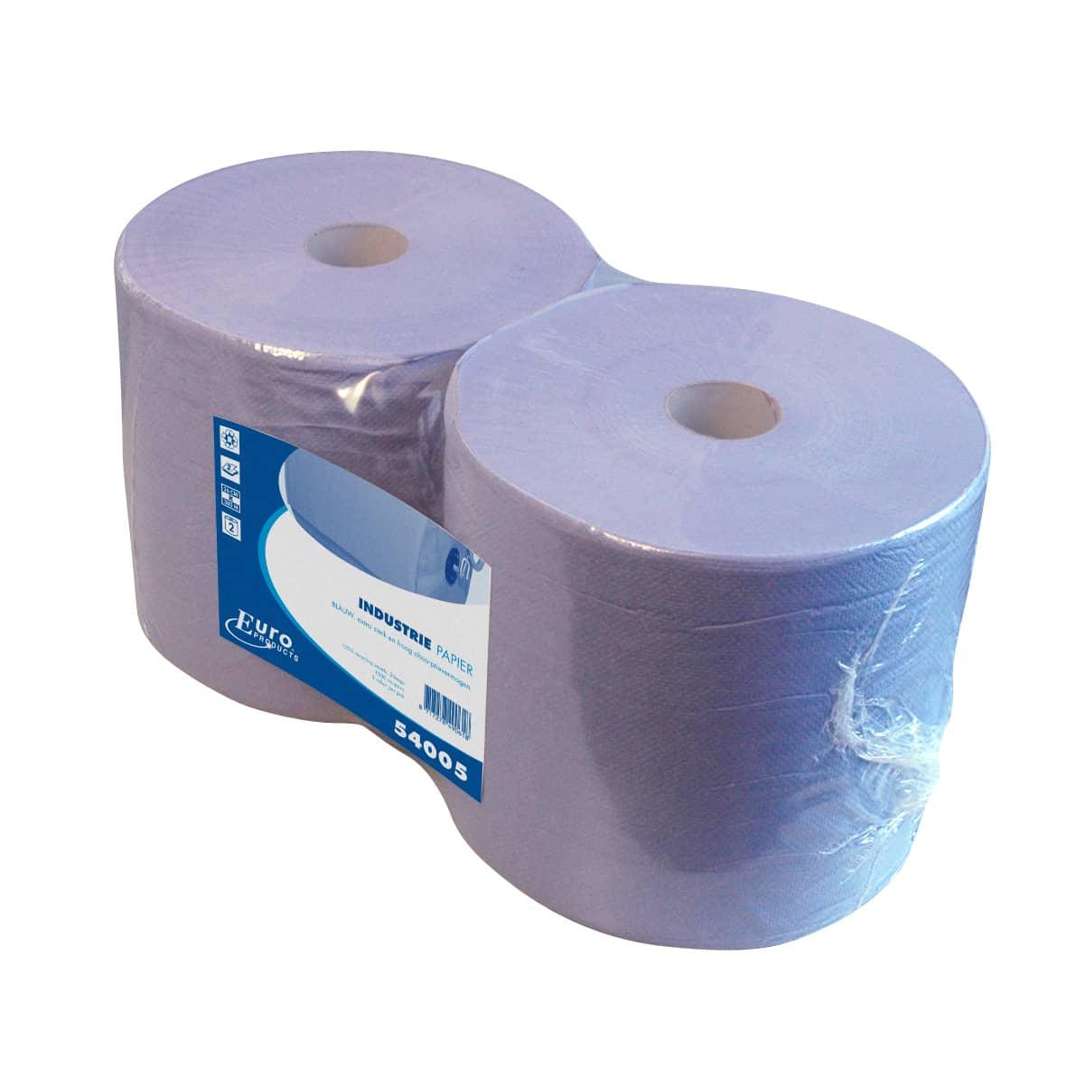 Industriepapier recycled blauw 2-laags (2 rollen)