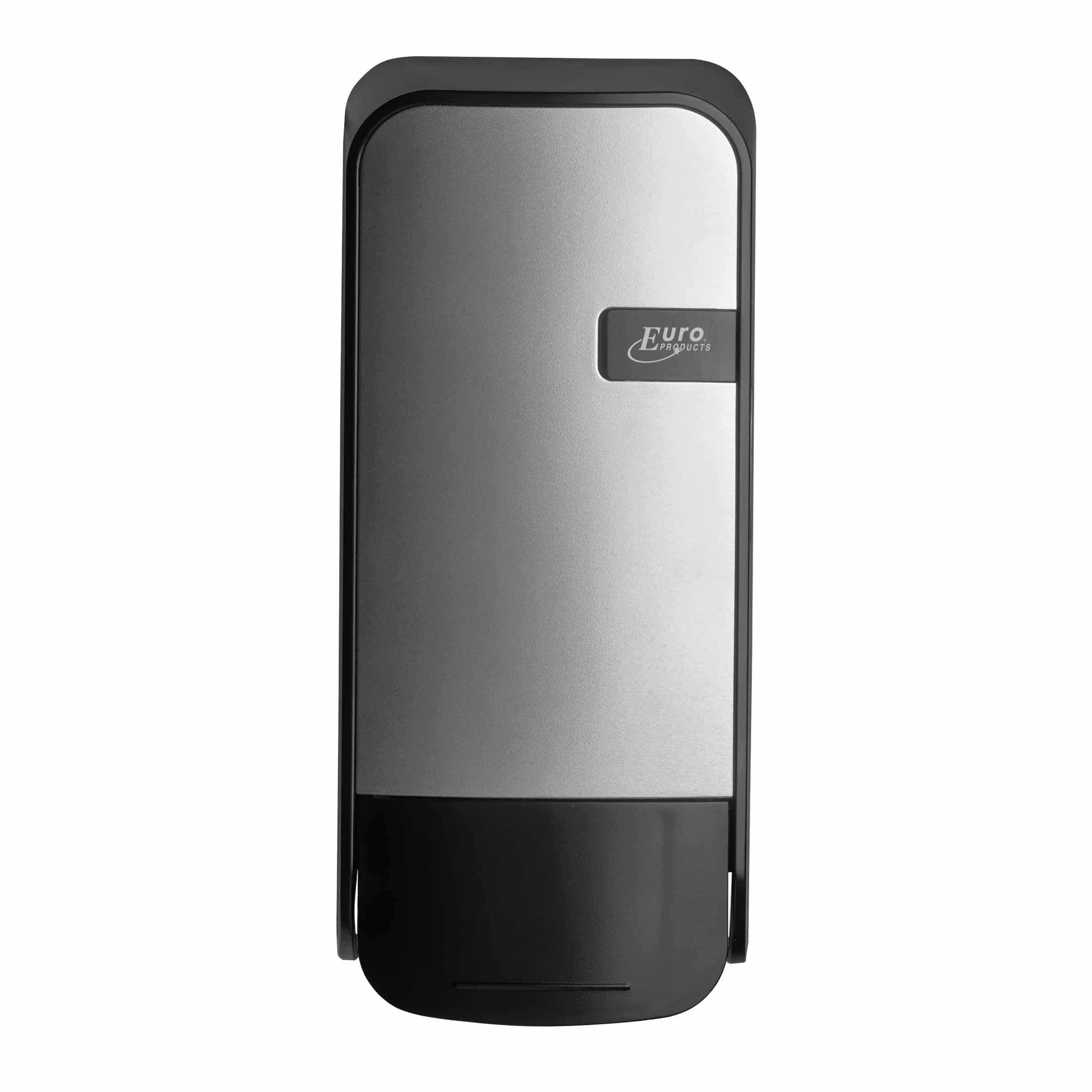 Quartz foam zeepdispenser 1000ml zilver - drukknop