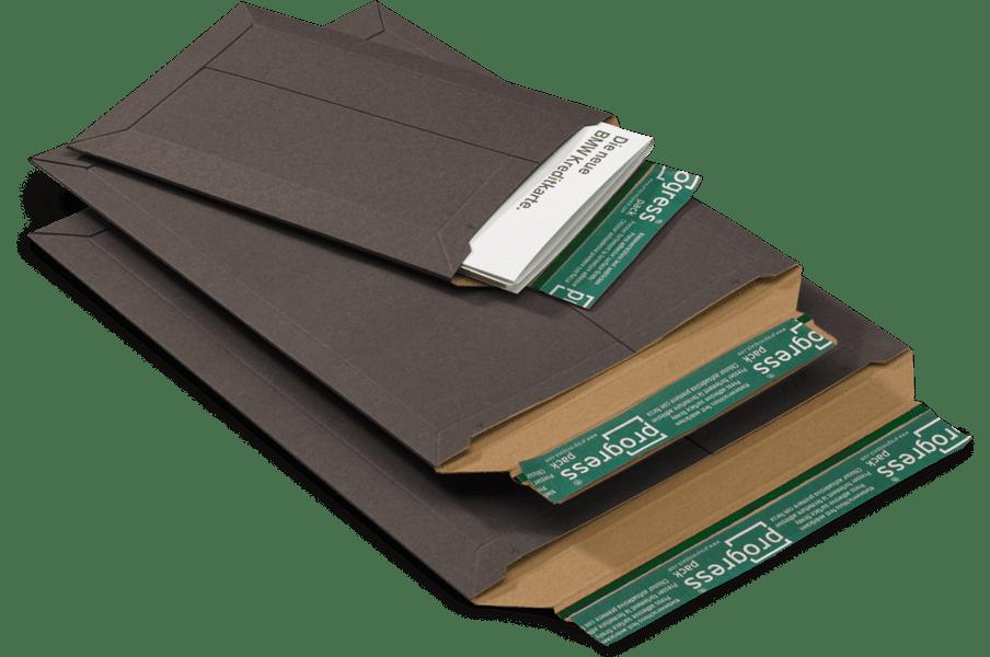 Massief kartonnen enveloppen zwart - 167 x 240 x 0-30mm (100st)