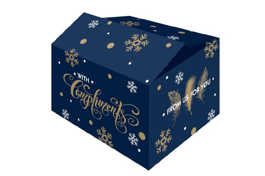 """Kerstdozen """"for you"""" blauw - 390 x 290 x 232mm"""