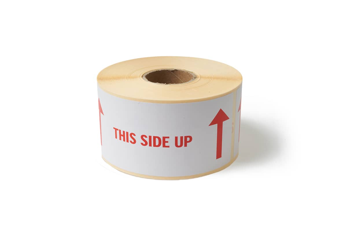 "Waarschuwingsetiketten ""This side up"" - 60 x 150mm (500 st)"