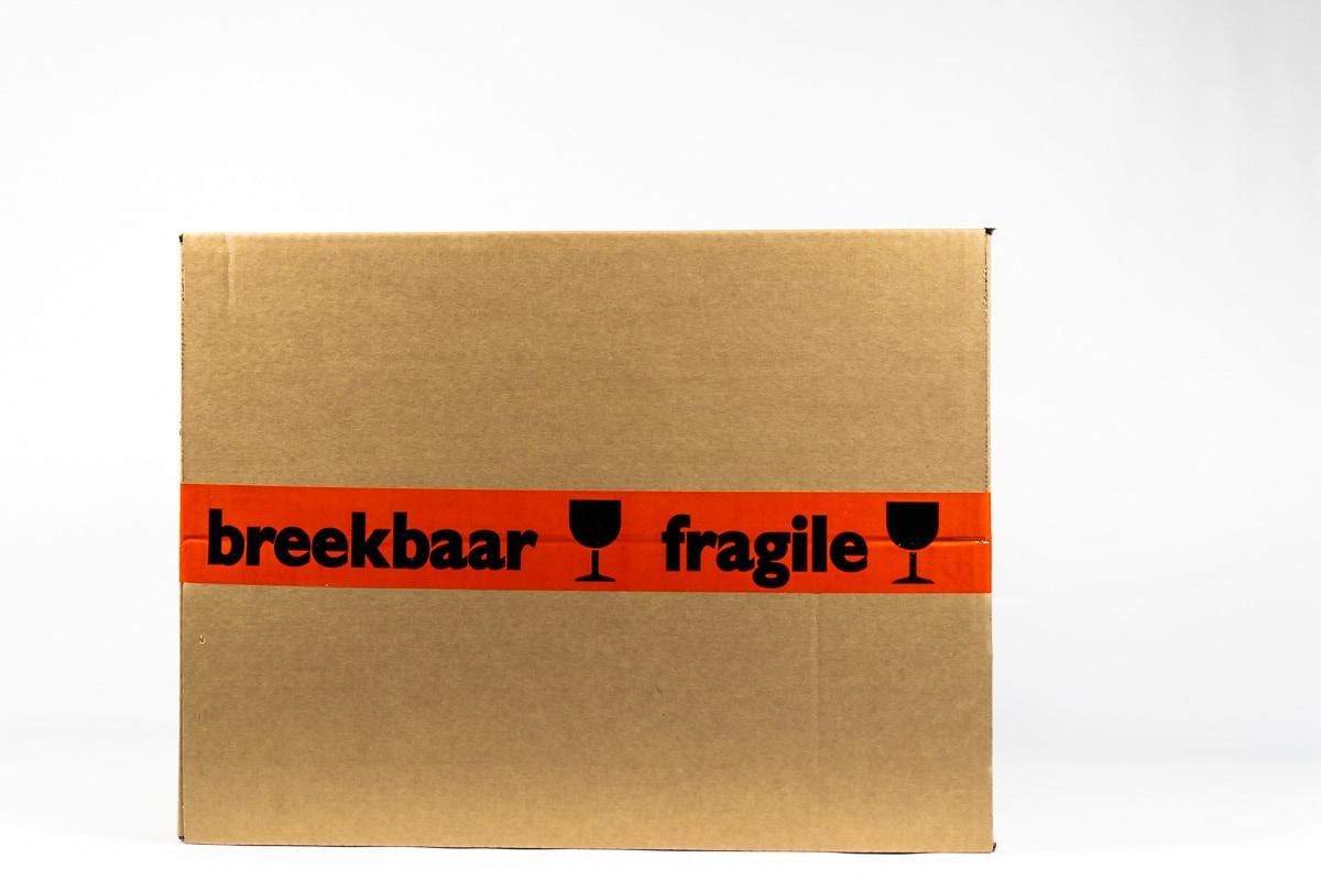 PVC waarschuwingstape 'breekbaar/fragile' oranje - 50mm x 66m