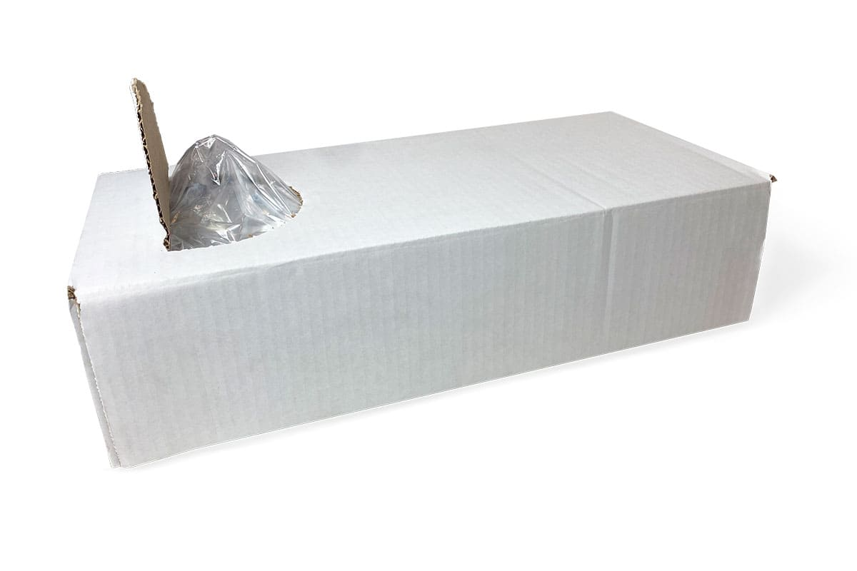 LDPE zijvouwzakken - 10 x 2,5 x 24cm x 50my (1.000 st)