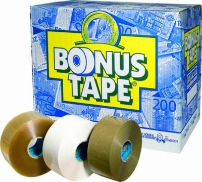 Bonus tape acryl transparant - 50mm x 200m