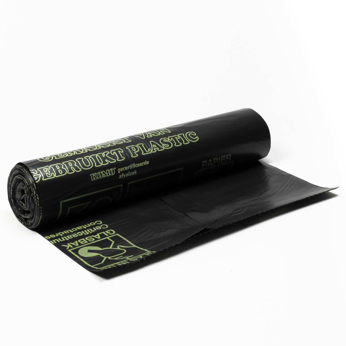 LDPE afvalzakken KOMO - 60 x 80cm x 50my (400 st)