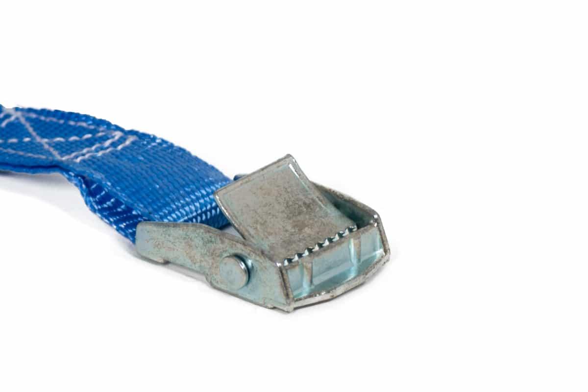 Bagagegordel spanband blauw + gesp - 25mm x 500cm