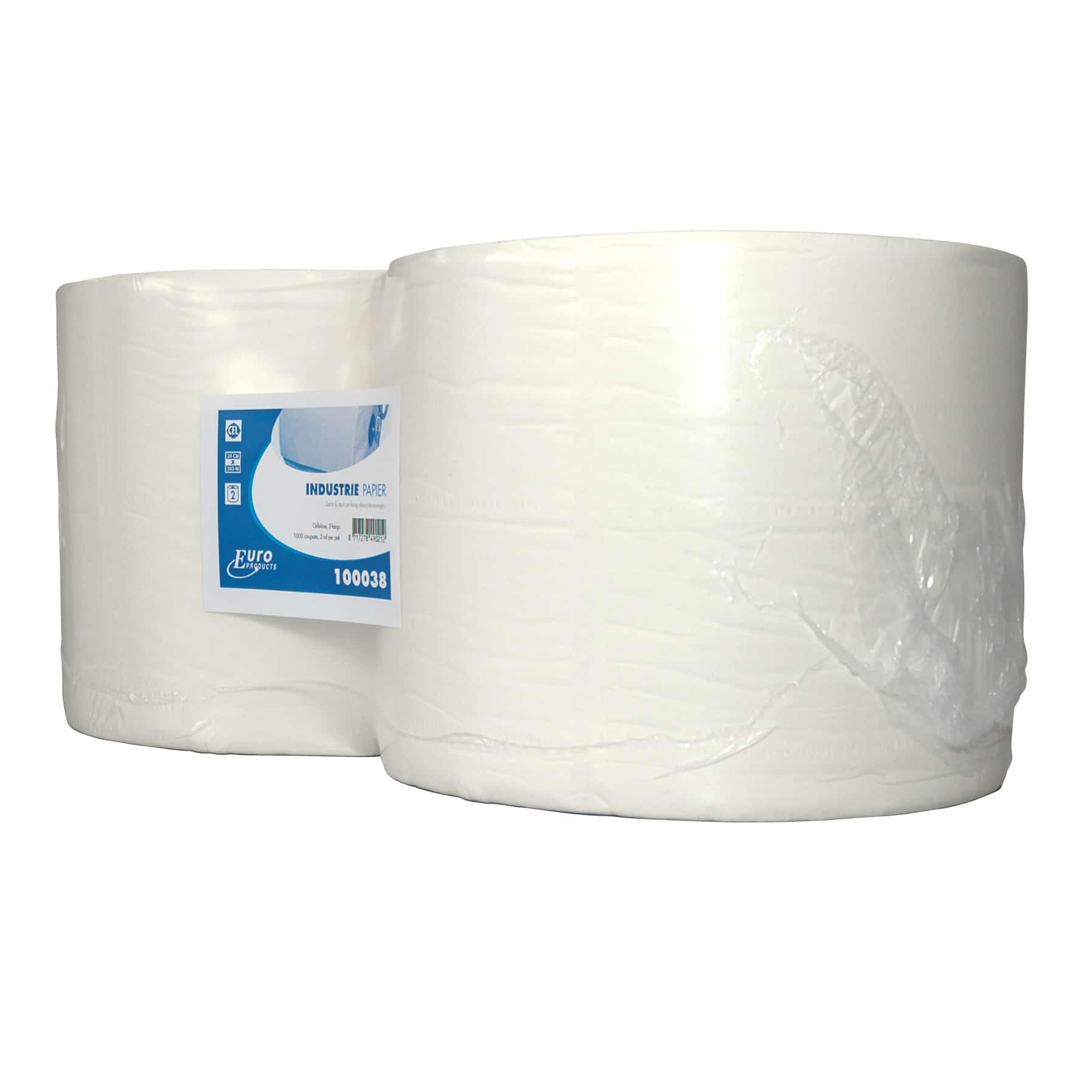 Industriepapier cellulose wit 2-laags (2 rol)