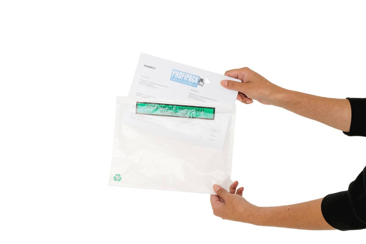 Eco papieren paklijst enveloppen Packing List - 230 x 170mm (1.000 st)
