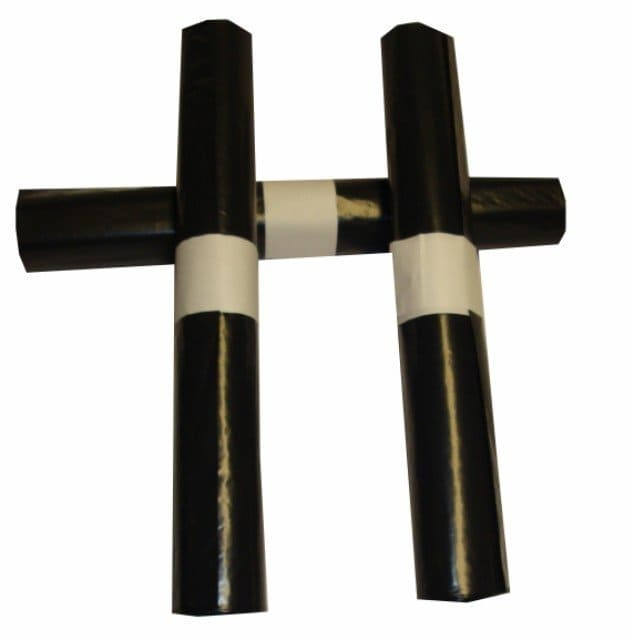 LDPE afvalzakken zwart - 90 x 125cm x 60my