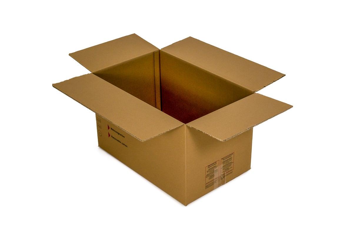Gebruikte kartonnen doos - 580 x 380 x 360mm (dubbele golf)