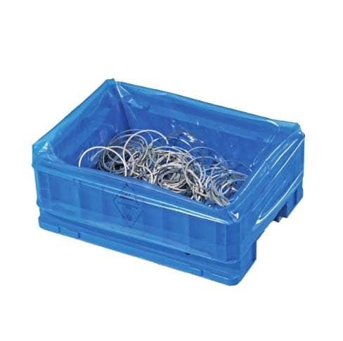 VCI KLT-zakken (corrosiewerend) transparant blauw - 63 x 42 x 65cm x 80my (200 st)