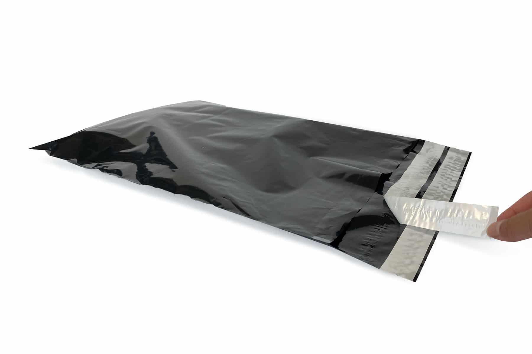 Verzendzakken coex zwart retour - 360 x 535mm (100 st)