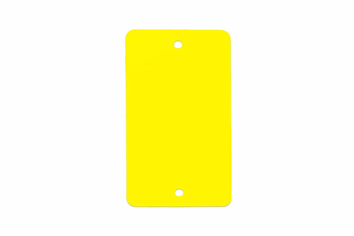 PVC kunststof labels geel - 55 x 110mm (100 st)