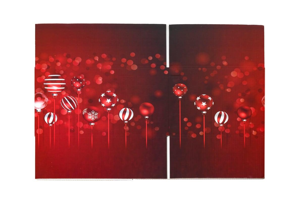 Kerstdoos rood Sparkling - 350 x 315 x 170mm